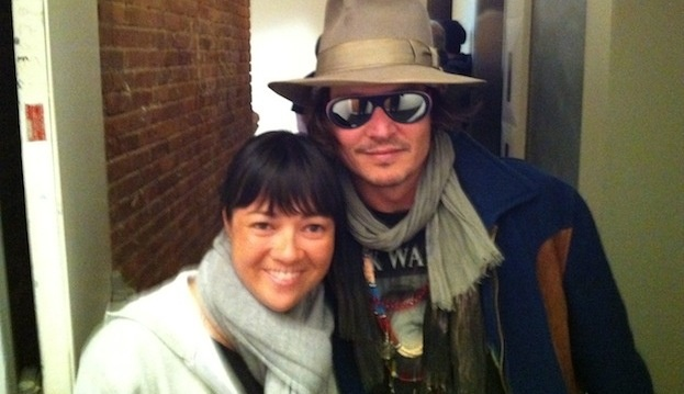 Johnny Depp visits the Melbourne office