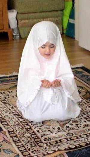 Muslim Girl Child Praying (Sorry, People. I'm not going to hate her just because she's Muslim. There is a Grey Area here, and I'm going to Plant an American Flag On It, And Proclaim It To The World. DEAL WITH IT. I'll be her neighbor and a safe place for her to run to, should she need a Strong Patriotic Woman who'll Stand Up For Her against any enemy, foreign or domestic. Otherwise, what have we been fighting for, for the last 15 years?? ONLY Revenge for 9/11? Hate for Muslims? Or IS THERE…