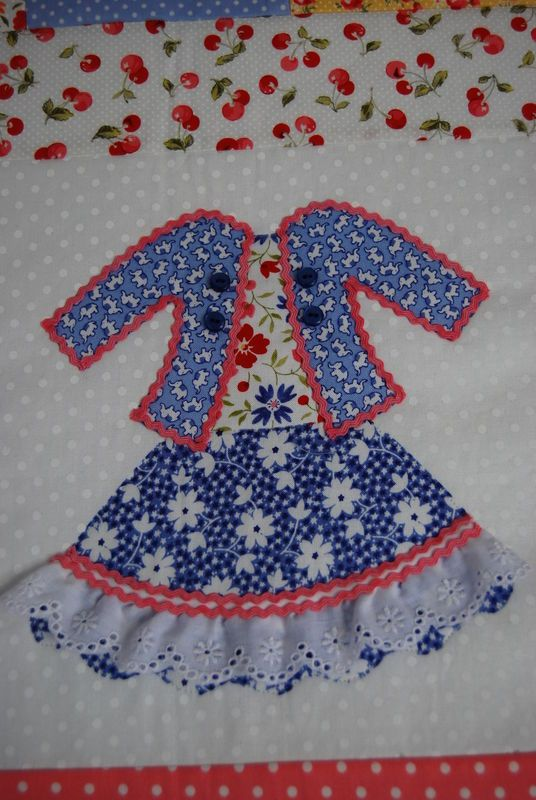 Doll Dresses Quilt for Olivia