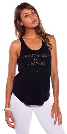 Be Love Shirt Tail Tank 'Kindness Is Magic' (Black)