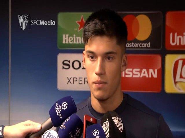 Tucu Correa despues del Sevilla - Manchester United