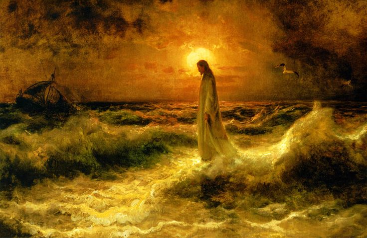 Christ-Walking-On-The-Waters-Julius-Sergius-von-Klever.jpg (1024×667)
