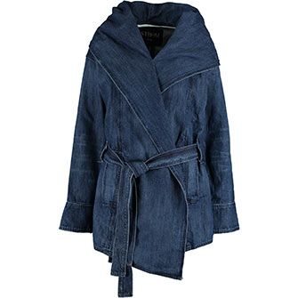 Blue Denim Parka Jacket