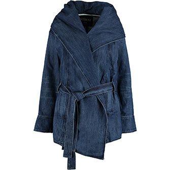Blue Denim Parka Jacket