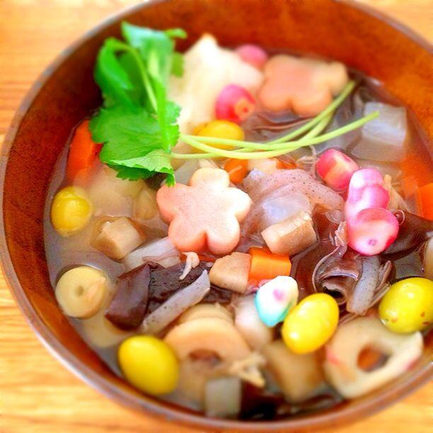 nj blog freely: 2013年1月 以前、福島県の会津でライブをした時に食べさせて頂いたこづゆがとってもおいしくて、前にも一度作りました。これで二度目。 作り方や具材が違うかもしれないのでこ ...