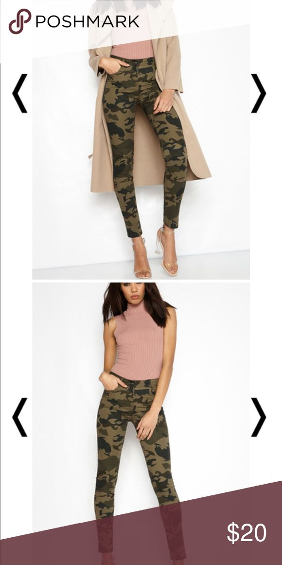 CAMO SKINNY JEANS Brand New, still in packaging. BOUGHT FROM A UK ONLINE BOUTIQUE Zara Pants Straight Leg