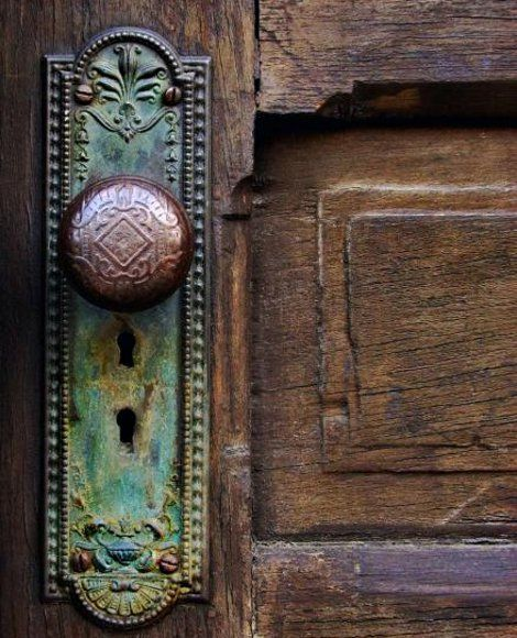 Why does this just stir my imagination? Vintage, old, weathered, and lovely. What's behind that door?