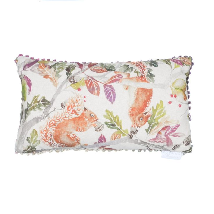 Voyage Maison Scurry of Squirrels Cushion . Available at www.thegreatbritishhome.com #voyagemaison #thegreatbritishhome #cushion #homedecor #madeinbritain #squirrels #squirrelcushion #autumnnal