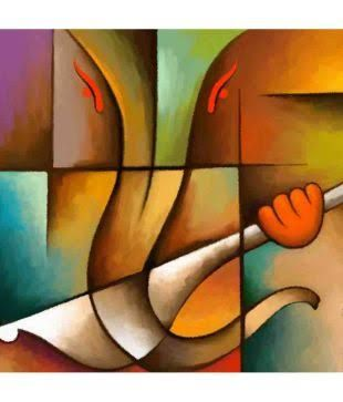 abstract paintings lord ganesha