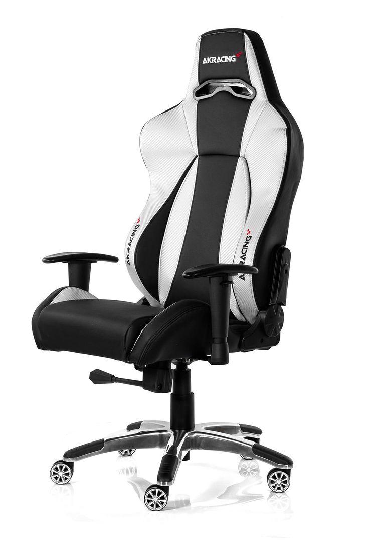 Akracing premium gaming chair black silver v2