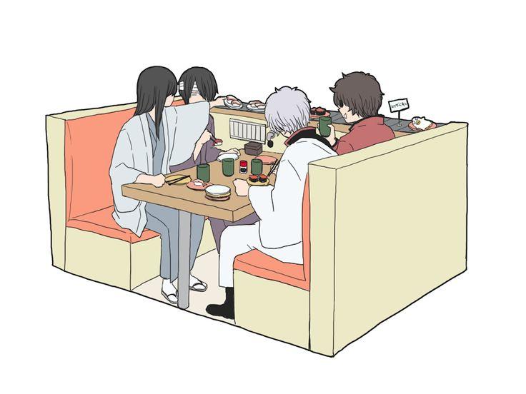 Tags: Fanart, Gin Tama, Pixiv, Sakata Gintoki, Takasugi Shinsuke, Katsura Kotaro, Tatsuma Sakamoto, Fanart From Pixiv, Pixiv Id 112780, Joui...