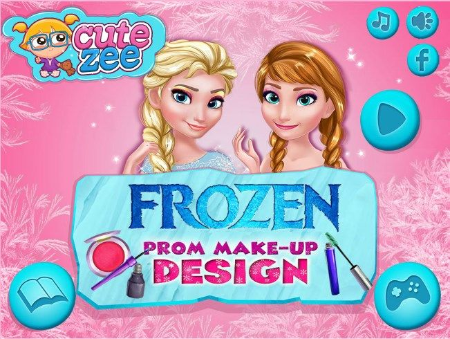 Create a makeup for Elsa and Anna! http://www.cutezee.com/frozen-prom-makeup-design