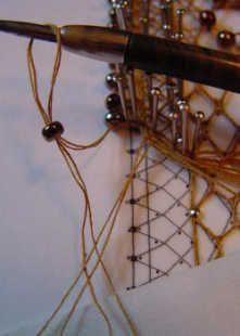 Rand-Perlen einhäkeln