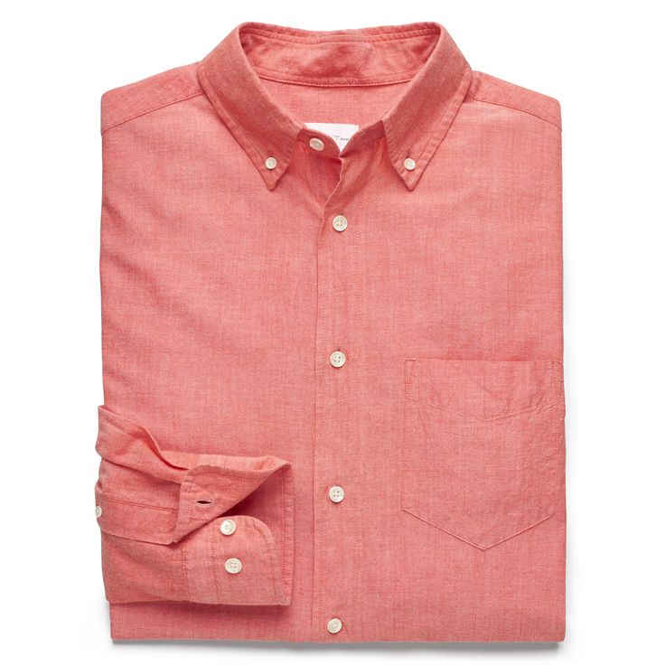 Gant Rugger Coral Sunset Orange Selvedge Madras Longsleeve Button Down Shirt: This Selvedge Madras Shirt from Gant Rugger is made from 100% cotton and features selvedge edges from the end of the loom, which stops the fabric unraveling without stitching. This shirt sports a folded placket, classic Madras check, button-down collar, adjustable cuffs, pointed chest pocket, and Gant's iconic boxpleat and locker loop on the back.