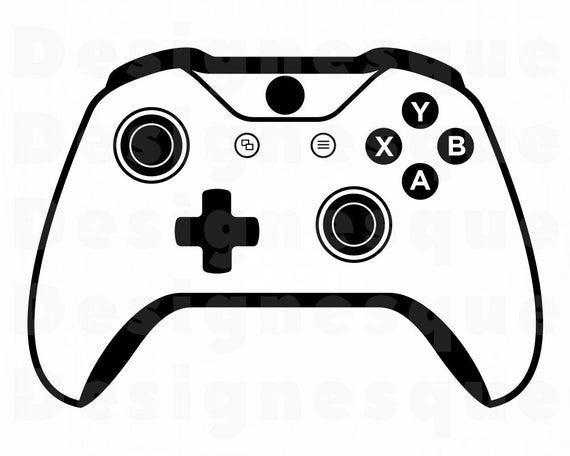 32+ Xbox controller clipart black and white ideas