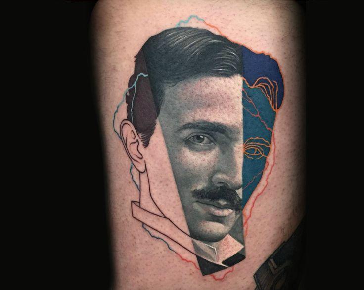 Dzikson Wildstyle pop art nikola tesla tattoo