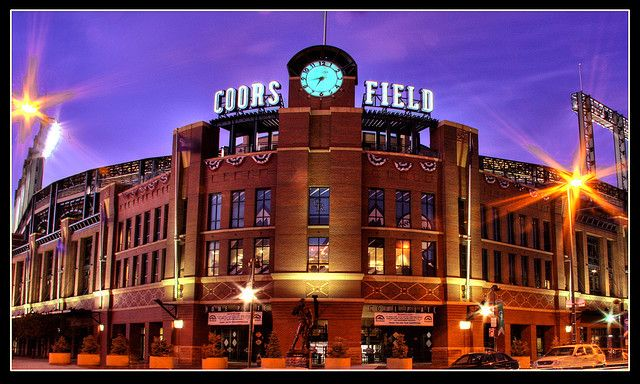 Coors Field -- Stadium for the Colorado Rockies baseball team. Photo by StuffEyeSee. Despite being build in 1995, the design was meant to evoke the style of older stadiums.