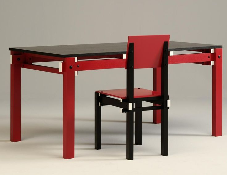 Rietveld Militaire tafel en stoel