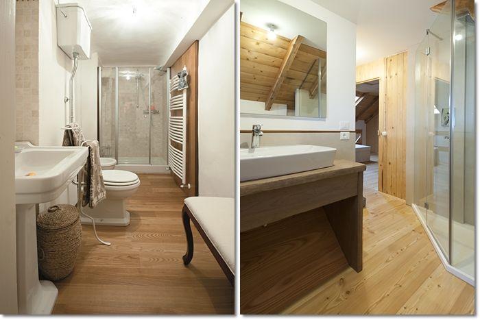 Bagno Legno Rustico : Bagni in legno parquet a terra per un bagno rustico arredi