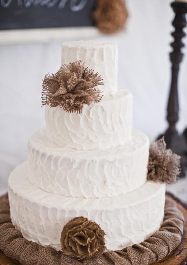 Burlap cake!