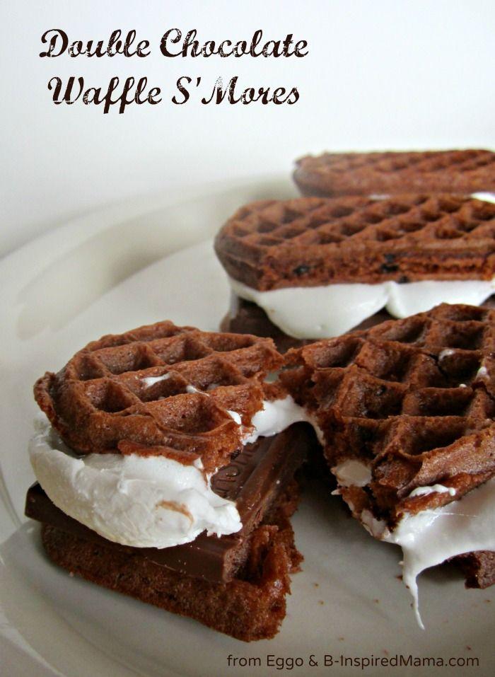 ... Chocolate Waffle SMores using chocolatey Eggo waffles! Find the recipe