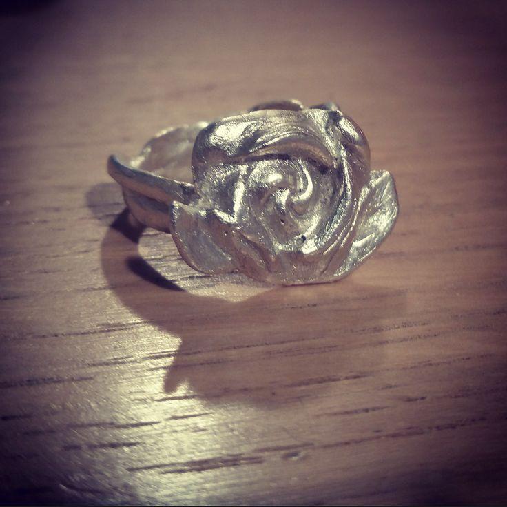Anello Rosa 950 Lavorato a mano