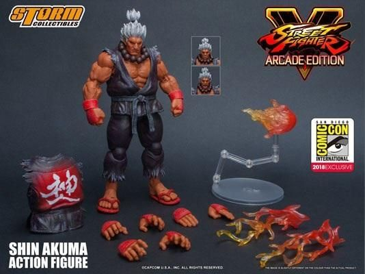Storm Collectibles Street Fighter V SDCC 2018 Shin Akuma 1:12 Action Figure