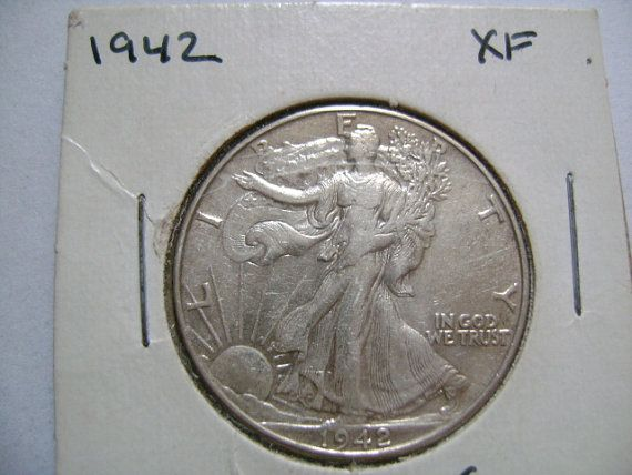 1942 Walking Liberty Silver Half Dollar US Coin