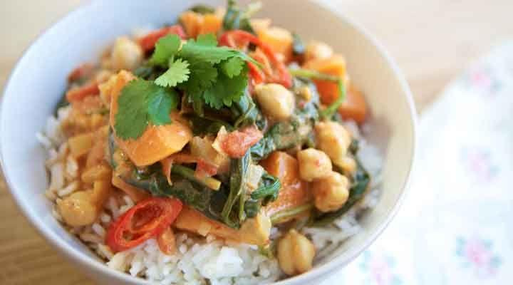 MummyCooks Sweet Potato and Chickpea Curry.