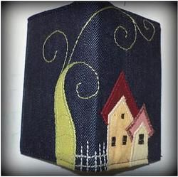 Credit card holder with houses