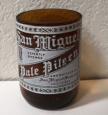 San Miguel Beer Philippines Collectible Glass Bottle Drinking Brewery Souvenir