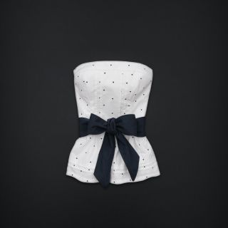 Gilly Hicks by Abercrombie Hollister Strapless Corset Shirt White Top