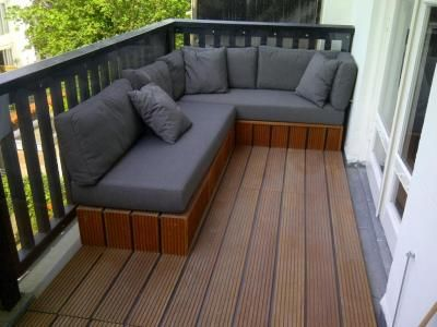 lounge bank op balkon huis ideeen pinterest nice. Black Bedroom Furniture Sets. Home Design Ideas