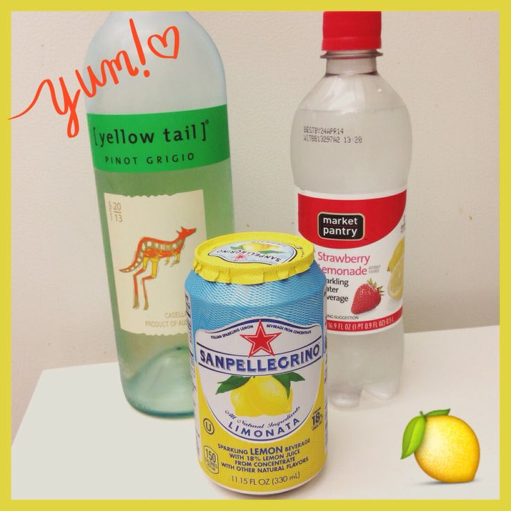 The best white sangria recipe! • 1 bottle of Yellow Tail Pinot Grigio, 1 can of Sanpellegrino Limonata, and quite a few splashes of Strawberry Lemonade Sparkling Water (I used about 5oz) + 1 Sliced Green Apple