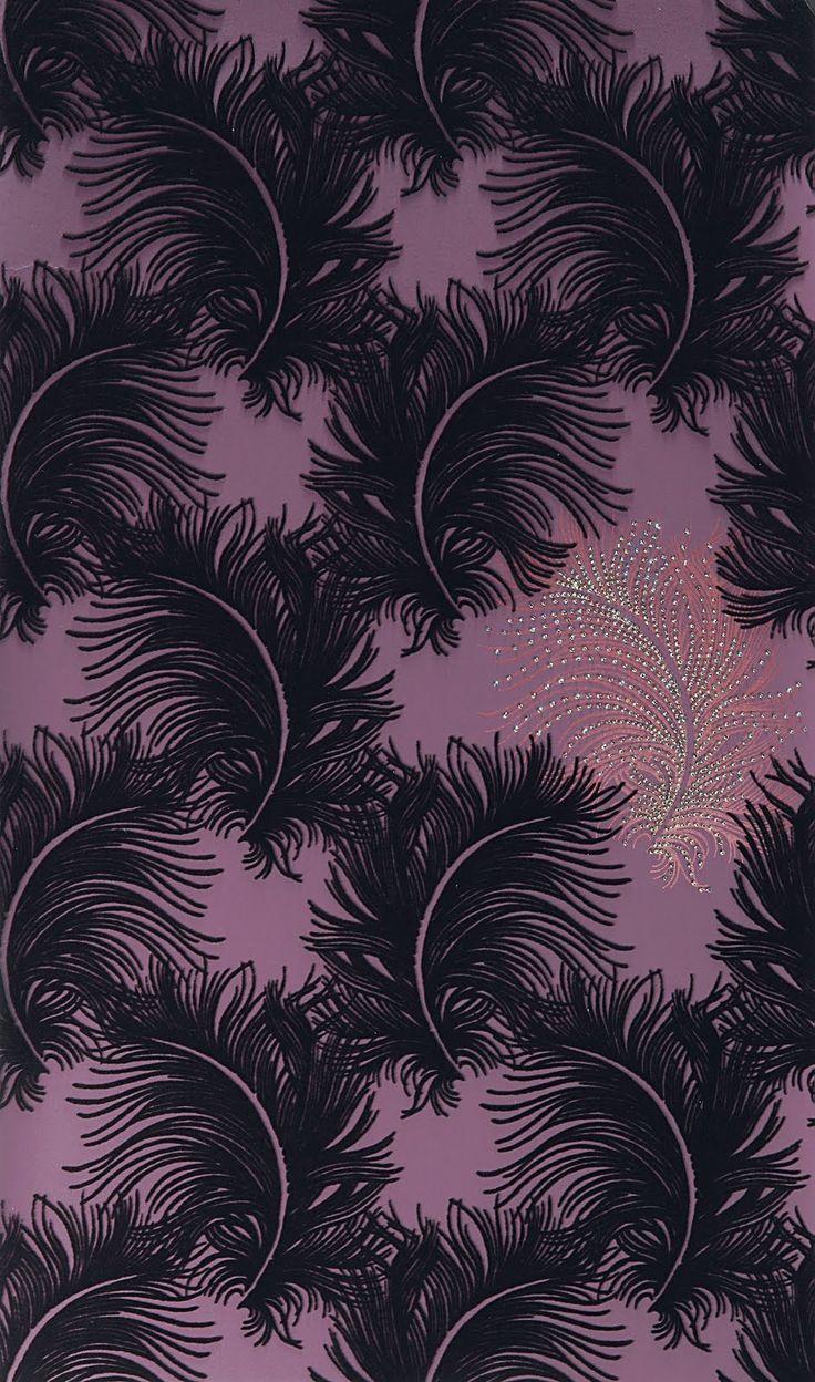 Swarovski Elements wallpaper  by British wallpaper designer Karen Beauchamp