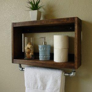 Industrial/rustic shelf