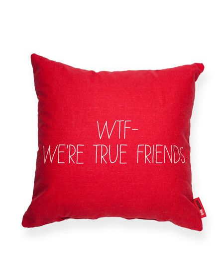 WTF Red Throw Pillow