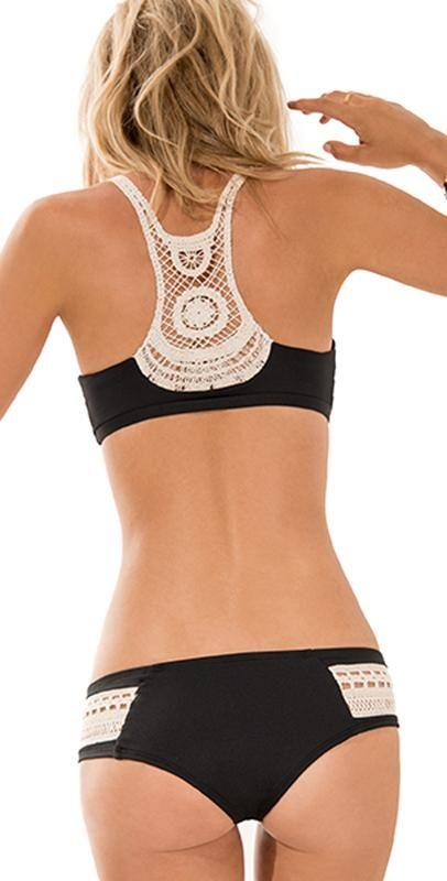 L Space 2014 L*Novelties Black Wild Child Bikini | South Beach Swimsuits