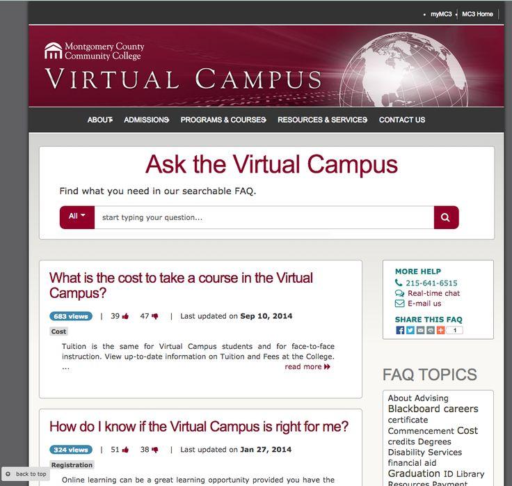 Montgomery County Community College Virtual Campus