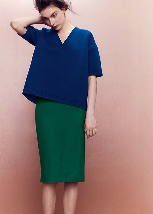 ---colour blocking - work great for Winter types who can have big contrasts
