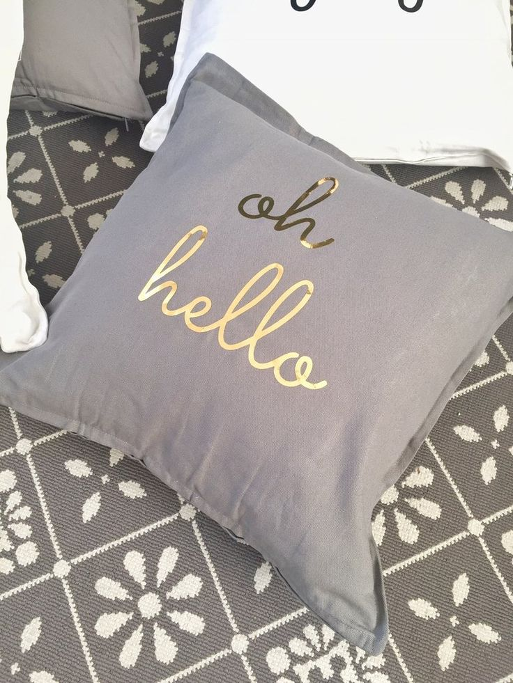 Oh hello gold font Statement Cushion Cover - 20x20 inches