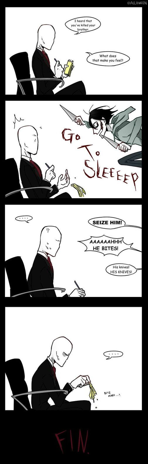 Hahaha another lil comic today... Time to work, Dr. Slender! --------------- Ben's therapy: Slender PhD : Ben Drowned Toby's therapy: Slender PhD : Ticci Toby Masky's therapy:&n...