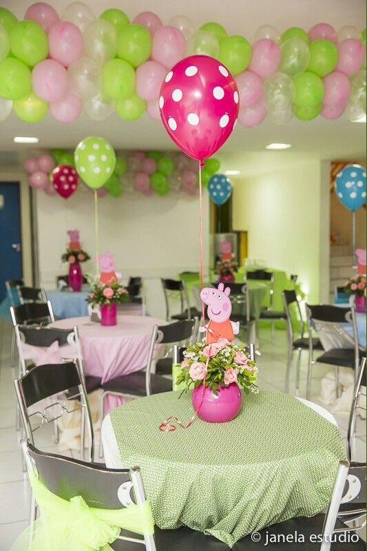 Peppa pig centro de mesa