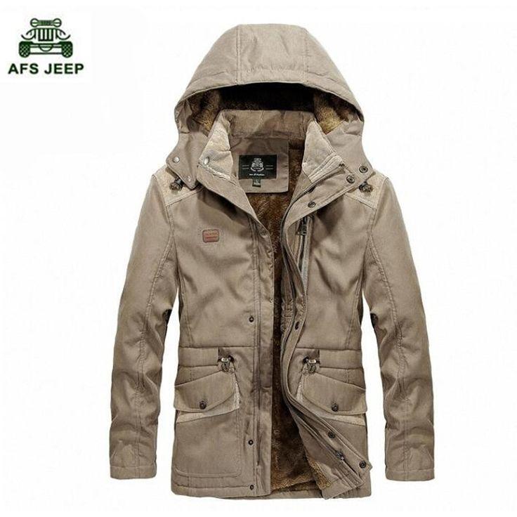 New Winter Coat male Parka Men Thick Warm Wool Liner Hooded Collar Winter Jacket Men keep warm coat #Affiliate