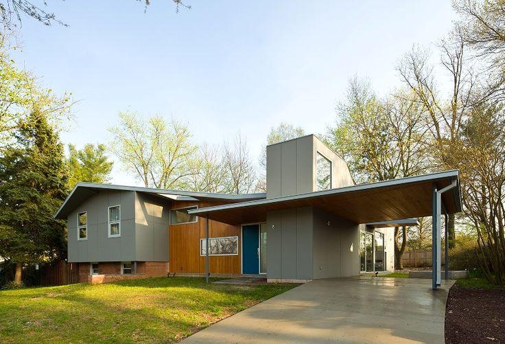 40 best split level exterior ideas images on pinterest for Modern split level homes