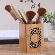 Houten bureau pen potloden houder kantoor opslag carving doos accessoires container stationaire diversen desktop organizer vintage gift(China (Mainland))
