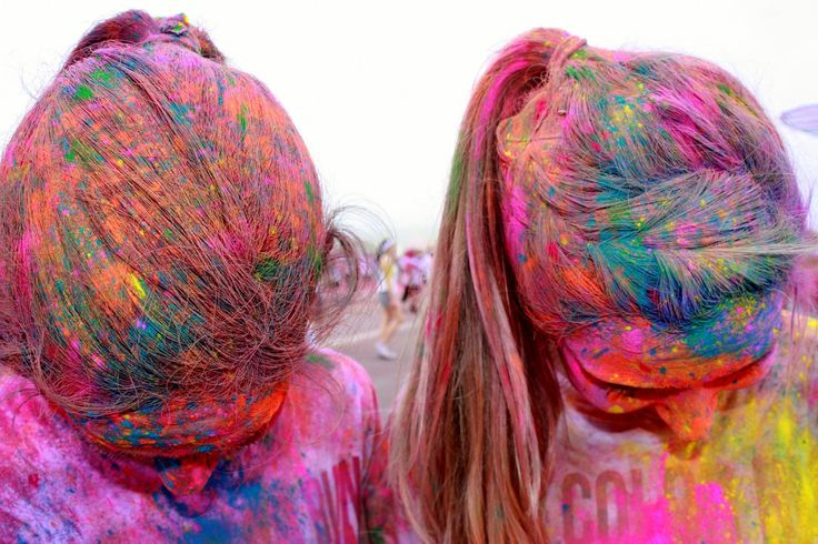 Get your hair styled at The Color Run.