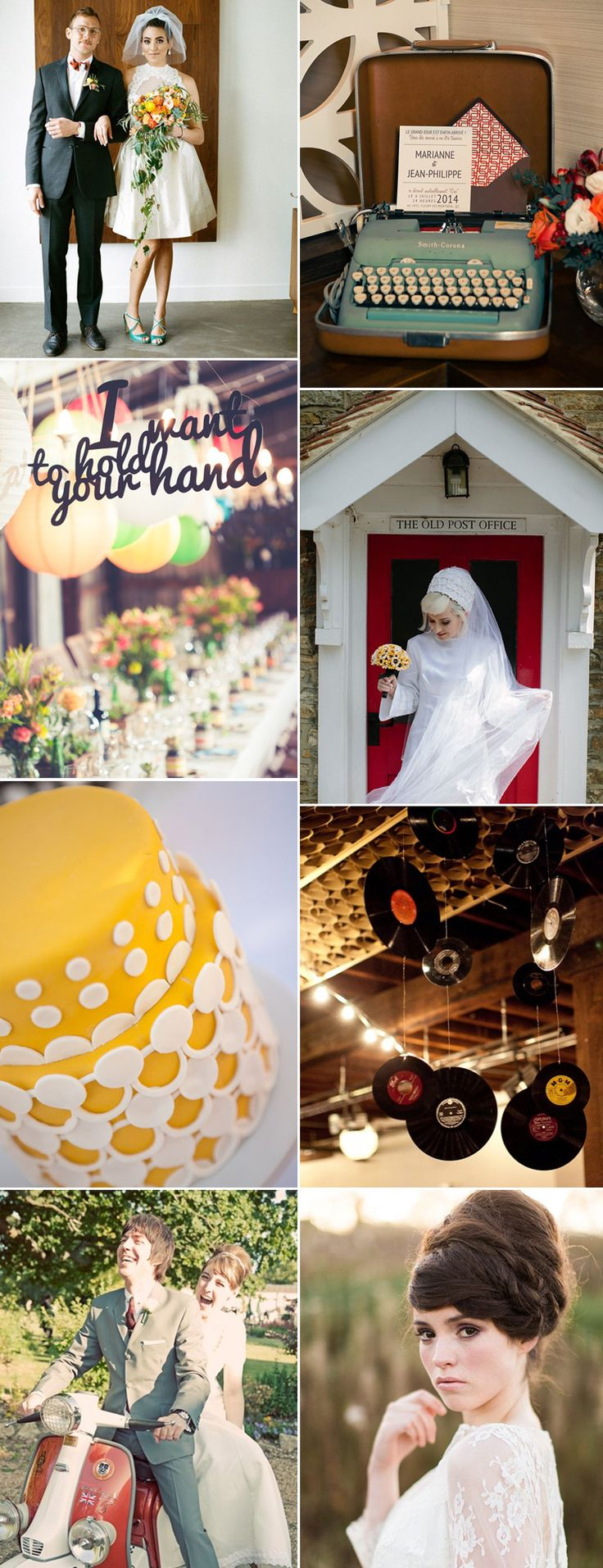 embrace the 1960s with our stunning wedding ideas