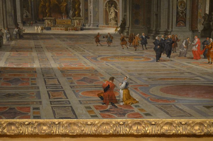 close-up of the Interior of St. Peter's Basilica by Giovanni Paolo Pannini