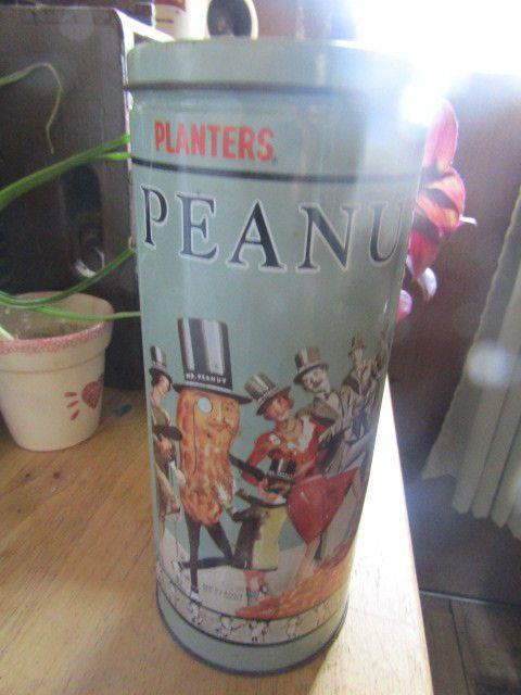 Planters Peanuts Tall Collectors Tin #Planters